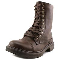 Wanderlust Womens Holly Round Toe Ankle Combat Boots - 11