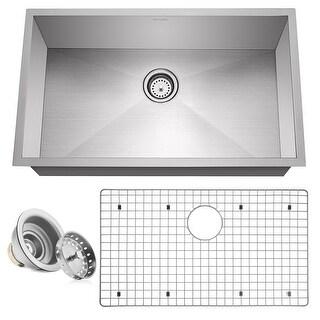 """32"""" x 19"""" x 10"""" 16-Gauge Stainless Steel Kitchen Single Sink- Miligore - 32""""x19""""x10"""""""
