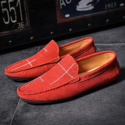 Doudou Men's Shoes Casual Slip-On Lazy Shoes