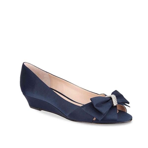 Nina Womens Raiyana Fabric Peep Toe Bridal Platform Sandals - 10