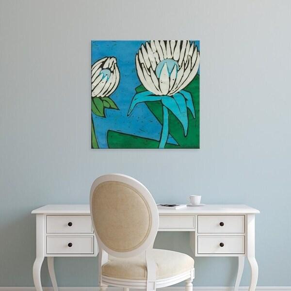 Easy Art Prints Andrea Davis's 'Turquoise Batik Botanical IV' Premium Canvas Art