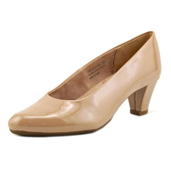Aerosoles Shore Thing Women Round Toe Patent Leather Nude Heels