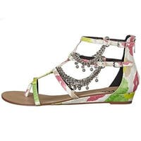 LFL by Lust for Life Womens l-angel Fabric Open Toe Casual Slingback Sandals - 8.5