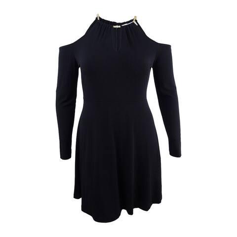 e1971ab93 MICHAEL Michael Kors Women's Chain-Detailed Cold-Shoulder Dress - Black