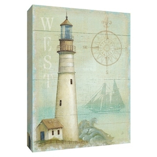 """PTM Images 9-154737  PTM Canvas Collection 10"""" x 8"""" - """"West Coastal Light"""" Giclee Lighthouses Art Print on Canvas"""