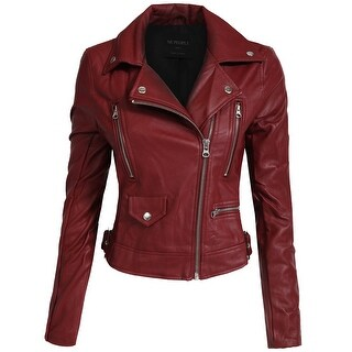 NE PEOPLE Women's Fitted Faux Leather Jacket [NEWJ138] (More options available)
