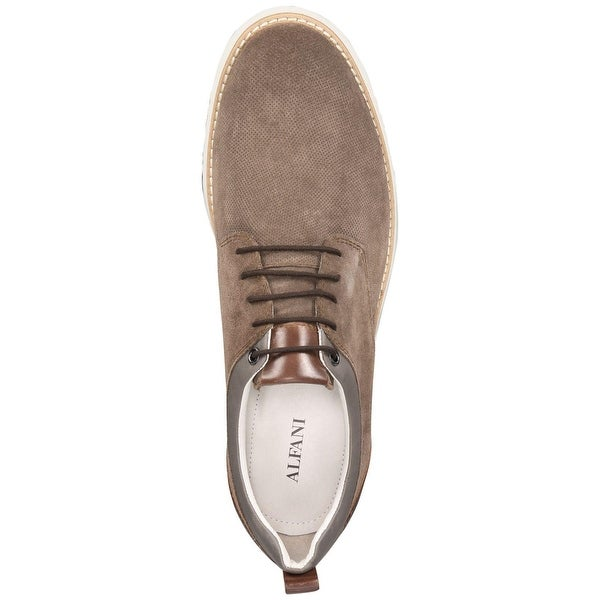 Alfani Mens Gregor Leather Lace Up Casual Oxfords