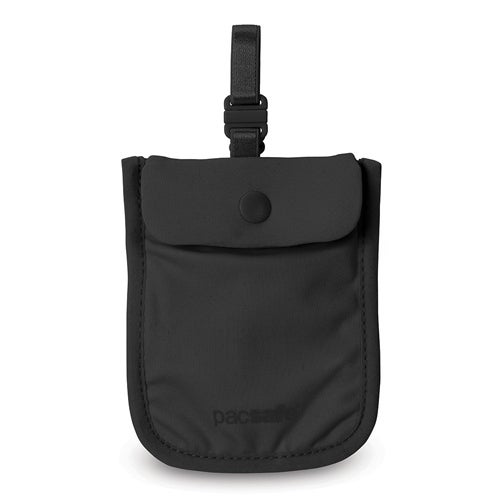 Pacsafe Coversafe S25-Black Secret Bra Pouch w/ Adjustable Elastic Straps