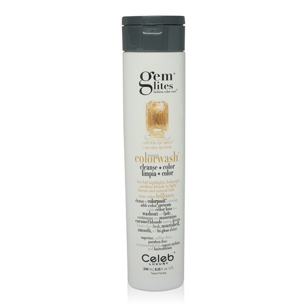 Celeb - Gemlites -Cognac Quartz Colorwash Shampoo 8.25 Oz