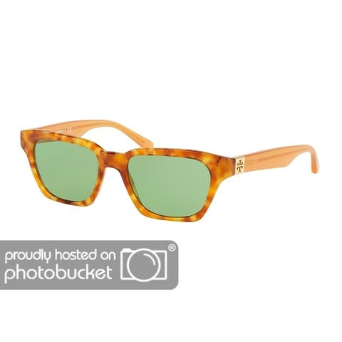 Tory Burch Rectangle TY7119 Women's AMBER TORT Frame SOLID GREEN Eyeglasses