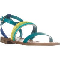 Nine West Xenosa Strappy Flat Sandals, Dark Turquoise Multi