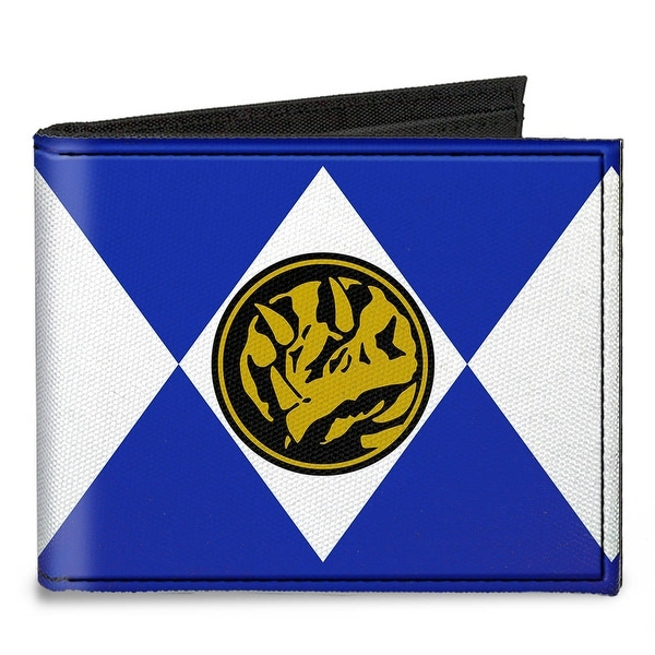 Diamond Blue Ranger Triceratops Power Logo Canvas Bi Fold Wallet One Size - One Size Fits most
