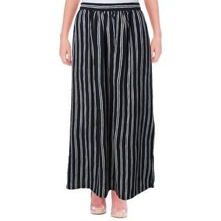 Scotch & Soda Womens Maxi Skirt Striped Side Slit