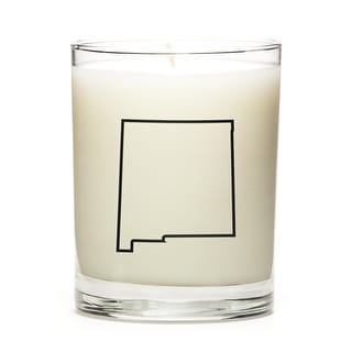 Custom Candles with the Map Outline New-Mexico, Lavender