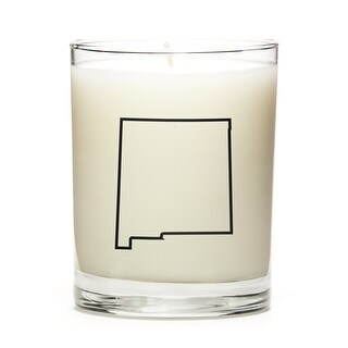 State Outline Candle, Premium Soy Wax, New-Mexico, Fresh Linen