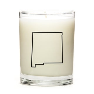 State Outline Soy Wax Candle, New-Mexico State, Peach Belini