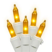 NorthLight Set Of 50 Opaque Gold Mini Christmas Lights - White Wire