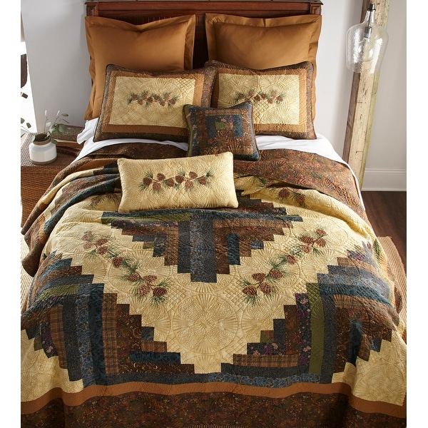 Donna Sharp's Cabin Raising Pinecone Quilt Set. Opens flyout.