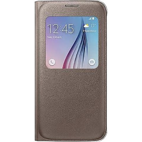 Samsung Galaxy S6 S-View Flip Cover - Gold