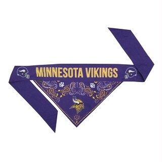 Minnesota Vikings Pet Reversible Paisley Bandana - Large