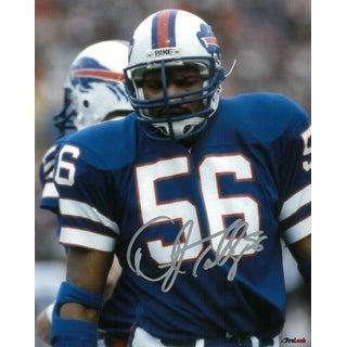 Darryl Talley signed Buffalo Bills 8x10 Photo (blue jersey)