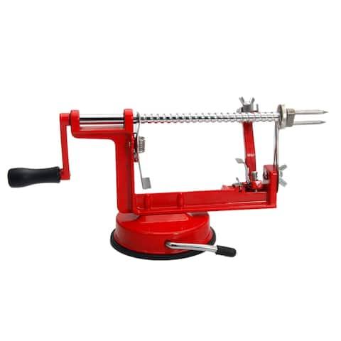 Stainless Steel Hand-cranking Apple/Fruit Peeler Red