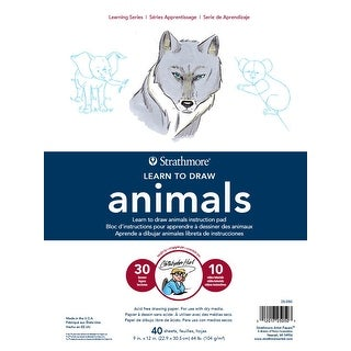 Strathmore Learn to Draw Instructional Pad, 9 x 12 Inches, Animals