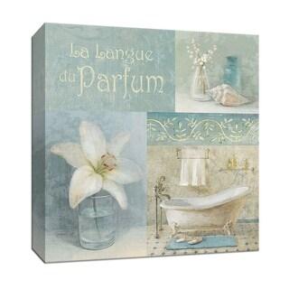 "PTM Images 9-151914  PTM Canvas Collection 12"" x 12"" - ""Parfum I"" Giclee Bathroom Textual Art Print on Canvas"