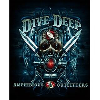 Amphibious Outfitters T-Shirt - Deep Dive - Black
