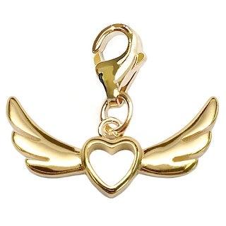 Julieta Jewelry Wings With Heart Clip-On Charm