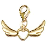 Julieta Jewelry Wings With Heart Clip-On Charm