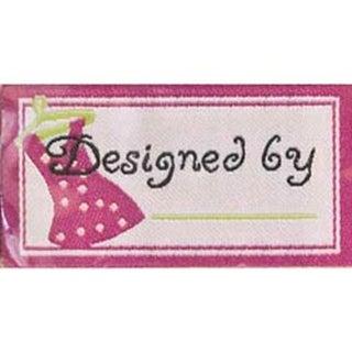 Designed By - Pink - Iron-On Lovelabels 4/Pkg