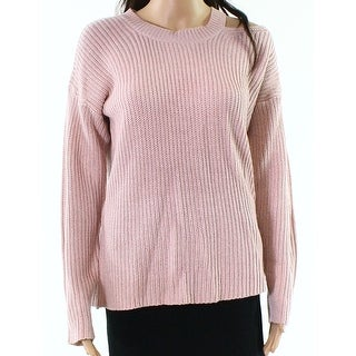 RDI Pink Women's Size Small S Knitted Cutout Pullover Sweater