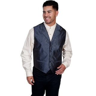 Scully Western Vest Mens Manly Quality Imported Paisley Button RW239