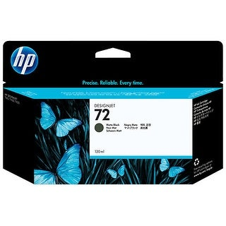HP 72 130-ml Matte Black DesignJet Ink Cartridge (C9403A) (Single Pack) HP 72 Matte Black Ink Cartridge - Matte Black - Inkjet -