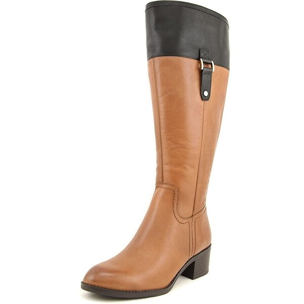 Franco Sarto Lizbeth Wide Calf Women  Round Toe Leather  Knee High Boot