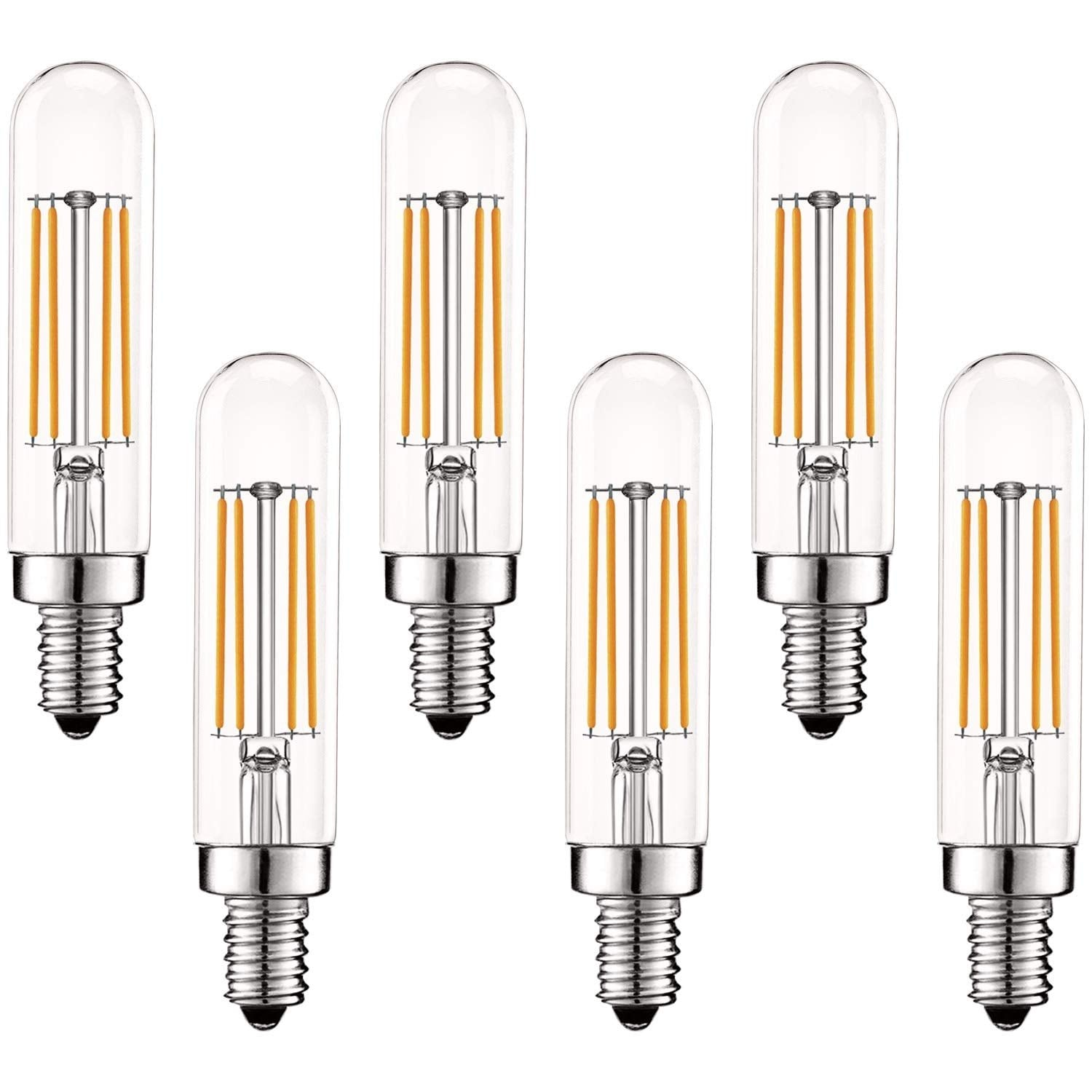 Luxrite Vintage E12 Led Bulb 60w Equivalent T6 T6 5 2700k Warm White 500 Lumens Dimmable Led Tube Bulbs 6 Pack Overstock 28958654
