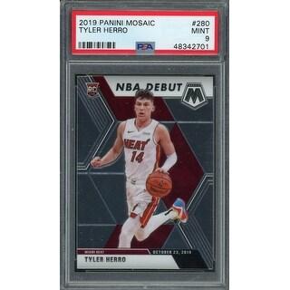 Link to Tyler Herro Miami Heat 2019 Panini Mosaic NBA Debut Basketball Rookie Card RC 280 Graded PSA 9 MINT - Black - 5' x 8' Similar Items in Sports Memorabilia