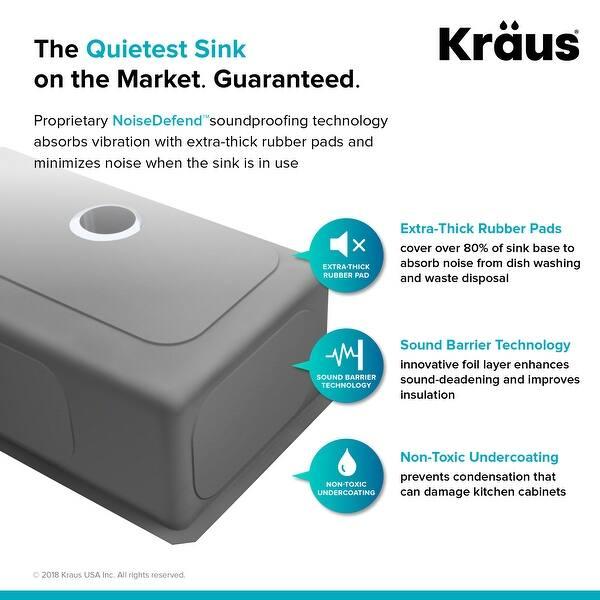 Kraus Khu100 32 Undermount 32 Inch 1 Bowl Stainless Steel Kitchen Sink Overstock 3381358