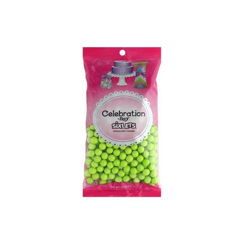 95076 sweetworks sixlets celebration 14oz lime green