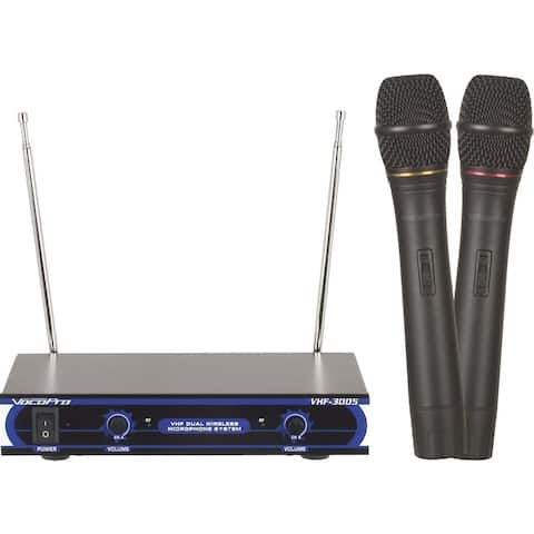 Dual Channel Vhf Wireless Microphone System. Frequency Sets: Vhf A, Vhf B