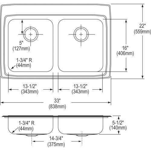 Elkay LRADQ3321403 Sink Stainless Steel
