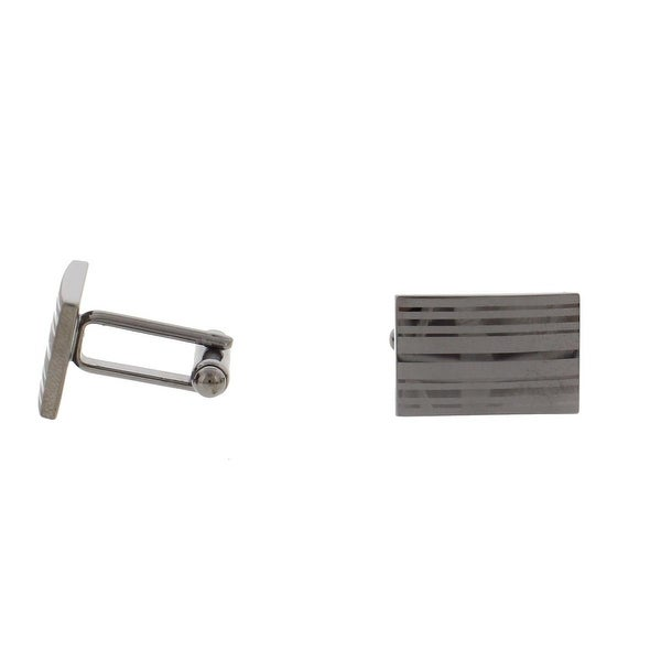 Geoffrey Beene Mens T-Shape Cufflinks Rectangular Striped