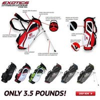 Tour Edge Golf  Exotics Extreme Lite 3.5 Stand Bag - Red & White