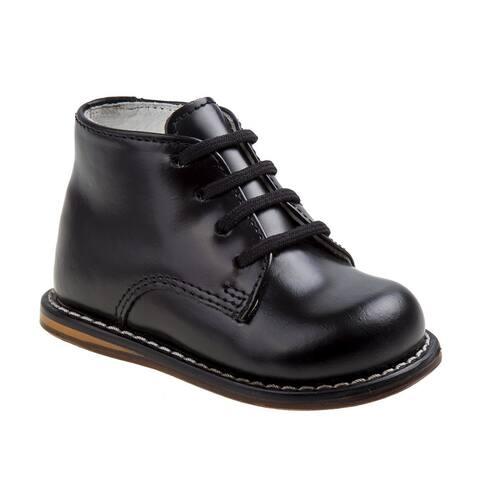 Josmo Unisex Little Kids Black Hard Sole Wide Size Walker Shoes