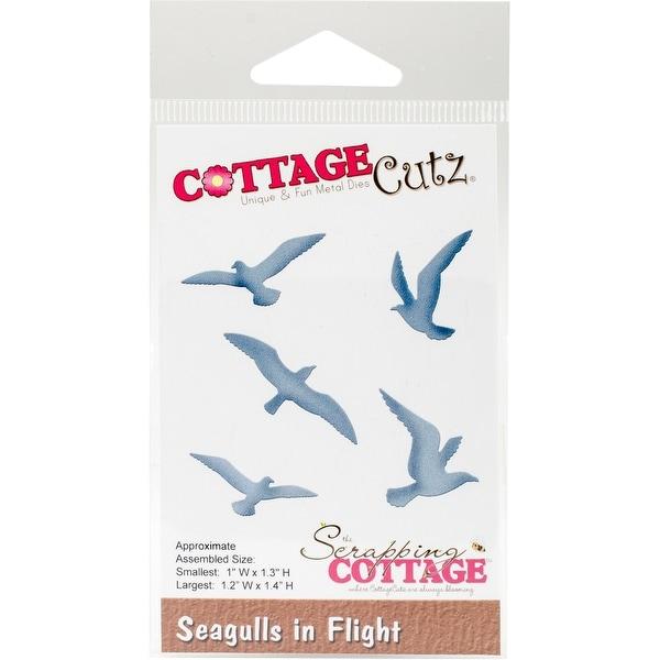 """CottageCutz Die-Seagulls In Flight 1""""X1.3"""" To 1.2""""X1.4"""""""