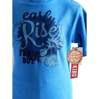 Farm Boy Western Shirt Boys Early Riser S/S True Blue - 12 m