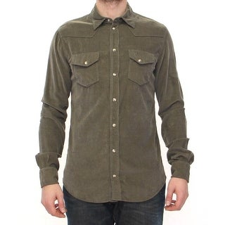 Dolce & Gabbana Exclusive Green Manchester Sicilia Casual Shirt - 40