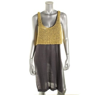 Free People Womens Crochet Sleeveless Tank Top Sweater - M