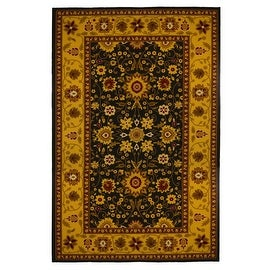 New Traditional Oriental Area Rug 5 feet x 8 feet , Gold, Black, carpet.